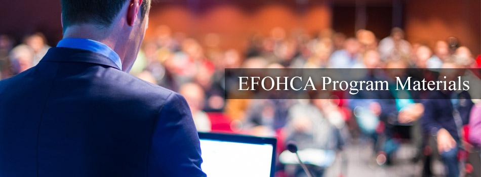 EFOHCA Program Materials